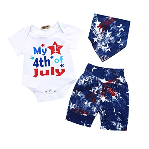f5066db2732 Baby Summer Clothes Newborn Baby Girl Boy Short Set Infant Romper Bodysuit+Short  Pant+