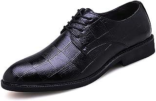 [populalarthing] ビジネスシューズ メンズ 外羽根 革靴 黒 プレーントゥ レースアップ 紳士靴 営業マン 通勤 防滑 軽量 24cm-29cm