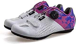ZMYC Cycling Shoes Adult Mountain Road Bikes Cycling Accessory, With Rotating Shoe Buckle Mountain Bike Shoes Road Cycling Shoes (Color : Purple, Size : 39)