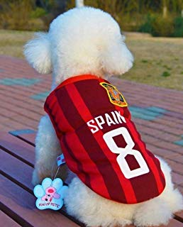 Trend68 Dog Football T-Shirt, National Soccer World Cup, FIFA Jersey for Pet