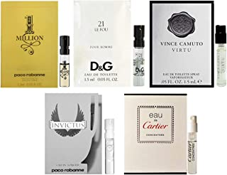 Men's cologne sampler set - ALL High end Designer perfume sample Lot x 5 Cologne Vials