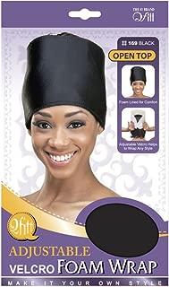 Foam Wrap Headband Adjustable #169 Black