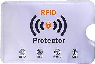 Geostat RFID Sleeves Credit Card Sleeve, Debit Card Sleeves, ATM Card Cover, Card Protector Sleeves Blocks Credit Cards White RFID Credit/Debit Card Sleeves