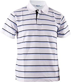 BCPOLO Men's Stripe Pique Polo Shirt Short Sleeve Polo Shirt