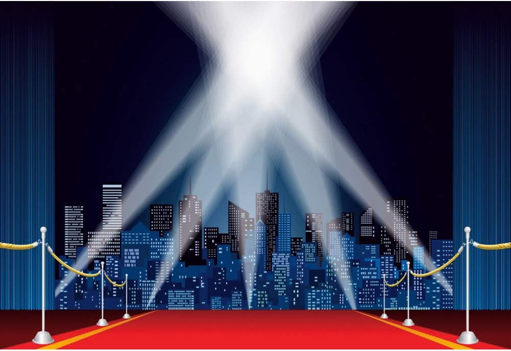 Haoyiyi 9x6ft lowest price Real Estate Photography Soldering Hollywood Carpet Red Spotl