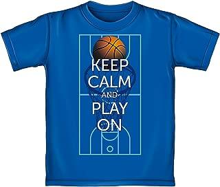 Keep Calm and Play On Basketball Adult Tee Shirt