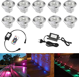 10pcs Luz LED Foco empotrable al Aire Libre 0.5W 45mm Ø