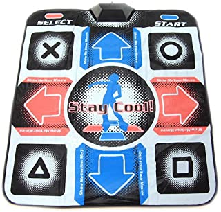 OSTENT USB RCA Non-Slip Dancing Step Dance Mat Pad Compatible for PC TV AV Video Game