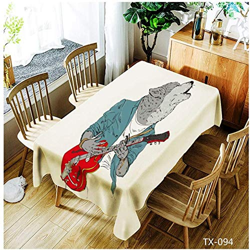 WSJIABIN Table Cloth Digital Printing Polyester Fashion Simple Rectangular Oil-Proof Anti-fouling Tablecloth Square Reusable Suitable for Indoor and Outdoor 150 x 210 cm