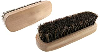 Kxtffeect Pack of 2 Natural Horsehair Shoes Brush Leather Cleaning Brush Cleaning Upholstery, Cleaner Car Interior, Upholstery Furniture, Shoes,Leather Clothes,Handbags, Sofa and More