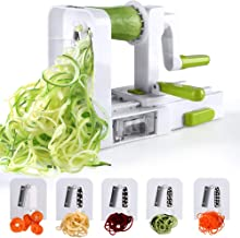 Sedhoom Espiralizador de Vegetales Cortador de Verduras de 5