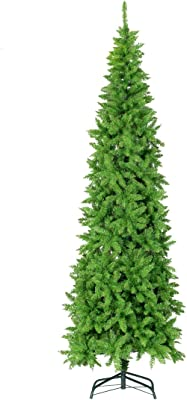 6386fe99af4 GOOD LIFE 1250 Tips 7.5 FT Premium Hinged Artificial Slim Christmas Trees  Narrow Fir Spruce Tree
