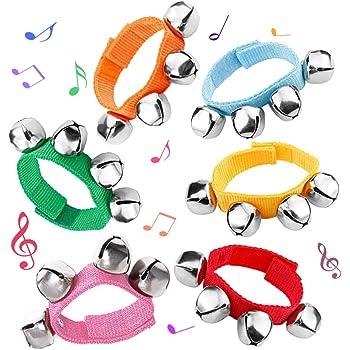 Ioffersuper Baby Kids Nylon Wrist Bells Musical Wrist Band Red