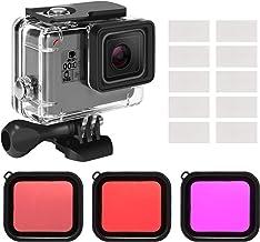 Kupton Housing Case Filter Kit for GoPro Hero 7 Hero 6 Hero 5 Black/Hero (2018), Waterproof Case Diving Protective Housing Shell + 3 Pack Filter + Anti-Fog Insert + Bracket Accessories