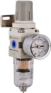 Shiningeyes 1/4 Inch NPT Air Filter Pressure Regulator Kit Water-Trap Air Tool Compressor Filter with Gauge