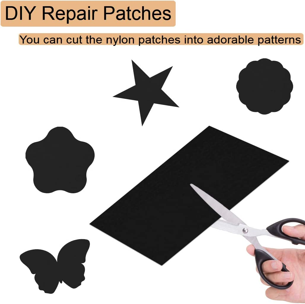 Clothing Repair Patch 8 Pieces Cuttable Repair Stickers for Clothing Holes Backpacks Tent Sleeping Bag Down Jacket MELARQT Repair Patches Self Adhesive Nylon Clothing Repair Patch Set