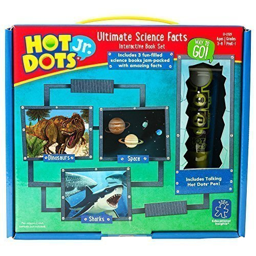 Educational Insights Hot Dots Jr. Ultimate Science Facts Storybooks, 3 Non-Fiction Books & Interactive Pen, Homeschool Learning Workbooks, Ages 3+