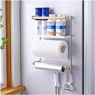 aipipl Accueil-Organisateur de Rangement Support de réfrigérateur, Support Mural latéral Fournitures de Cuisine Stockage S...