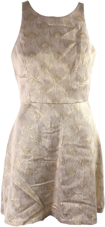 BCBG Generation Cream Women's Sheath Shimmer Dress