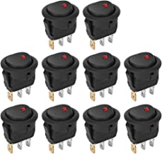 10pcs 3Pin LED Spotlighting Switch, 3 Pin Round ON‑OFF, Practical Home Industrial Equipment for Household Electrical Equip...