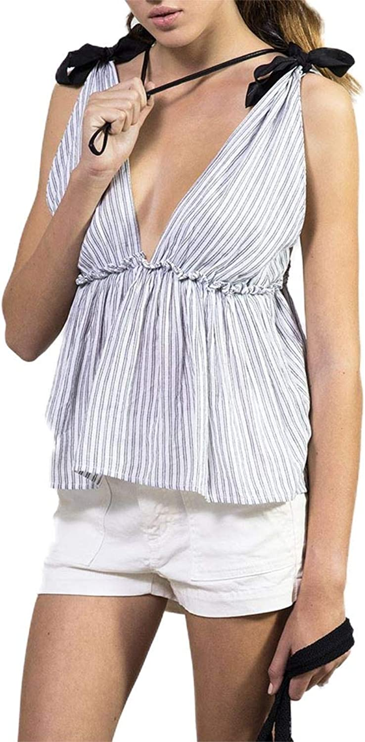 Sack's  Women's Onora Striped Knoted Shoulder Top  Multi