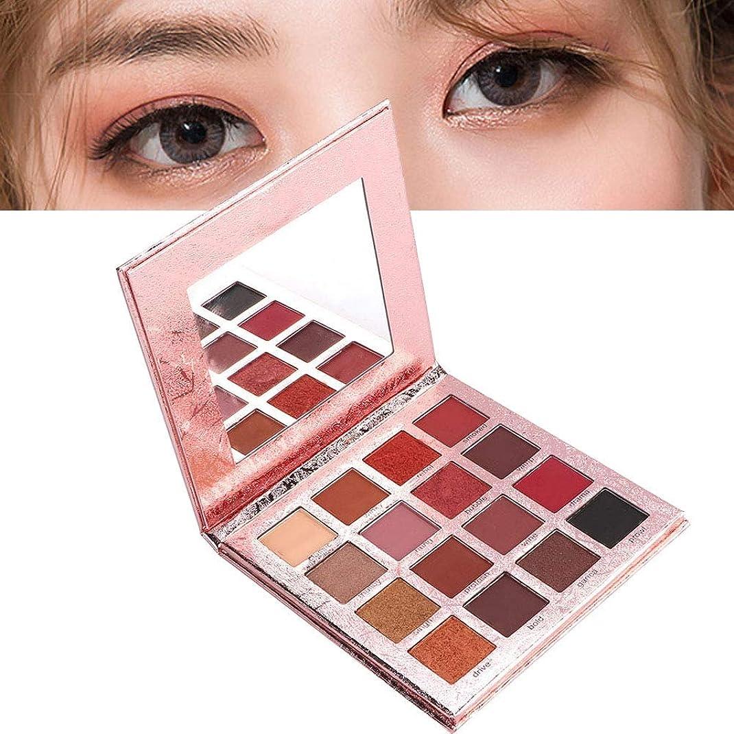 待つレビュアー明確なアイシャドウパレット 16色 化粧マット 化粧品ツール グロス アイシャドウパウダー