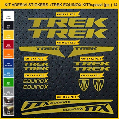 Adesivi Bici Trek Equinox_Kit 9_ Kit Adesivi Stickers 14 Pezzi -Scegli SUBITO Colore- Bike Cycle pegatina cod.0904 (091 Oro)