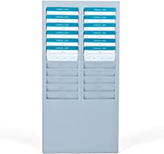 Time Card Rack 24 Pocket Slots Wall Mounted Durable Holder Compatible with Attendance Time Payroll Recorder Clock for Office Storage Indoor Outdoor Use (Gray)