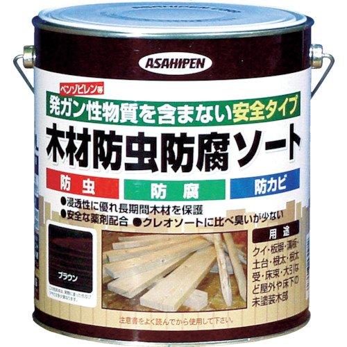 アサヒペン 木材防虫防腐ソート 2.5L ブラウン