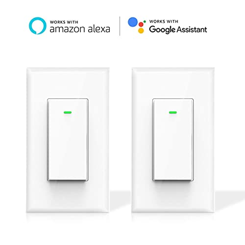 Smart Light Switch, Maxcio WiFi Smart Switch, Compatible with Alexa and Google Home,