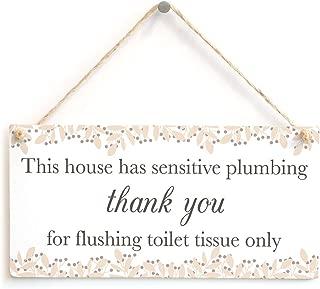 sensitive plumbing sign