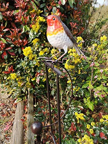 Fountasia Balancing Fun Metal Robin Bird Ornament