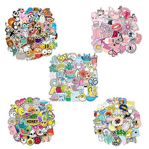 Pegatinas,250 pcs Stickers Pegatinas Portatil Pegatinas Vinilo Impermeable Pegatinas Skate,para Coche,Bicicleta,Moto,Equipaje,Portátil,Dormitorio,Funda de Viaje