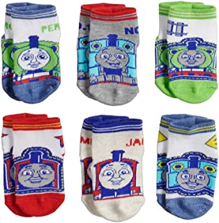 Thomas & Friends Little Boy's 6-Pack Character Quarter Socks, Toddler Shoe Size 4-7, White