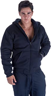 Men's Sherpa Lined Heavyweight Fleece Hoodies for Men Full Zip Big and Tall Sweatshirts Jackets Size S-5XL