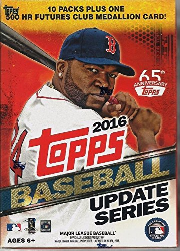2016 Topps Update Series Baseball Cards Blaster Box. This Value Box Contains 10 Packs Plus 1 Exclusive 500 Futures Medallion Card