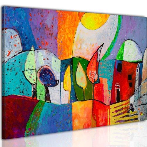 B&D XXL murando Impression sur Toile intissee 100x70cm 1 Piece Tableau Tableaux Decoration Murale Photo Image Artistique Photographie Graphique Abstraction Abstrait Enfants Tableau 0104-12