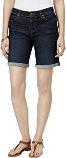 Style & Co. Womens Plus Mid Rise Cuffed Denim Shorts