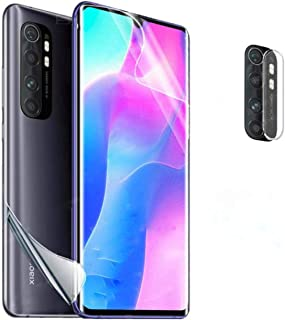 Gelatin 3 in 1 for xiaomi mi note 10 lite front , back and camera screen protector clear