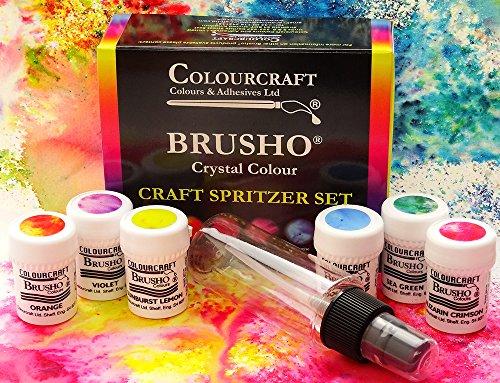 Brusho Craft Spritzer Set 6 Colors