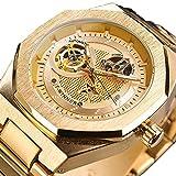 Excellent Reloj de Hombre Reloj mecánico automático para Hombres Reloj de Pulsera Casual con Manos Luminosas dial Redondo 3atm 30 Metros Resistente al Agua,C05