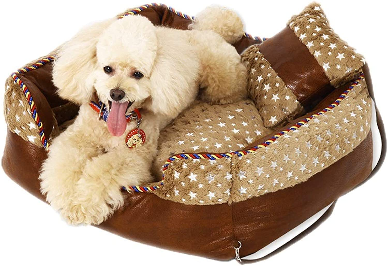 Kennelel GAOLILI Doghouse Puppy Suede Teddy Doghouse Lavable Animali domestici Nest Medium Winter caldo Pad (Dimensione: 65 * 55 * 20cm)