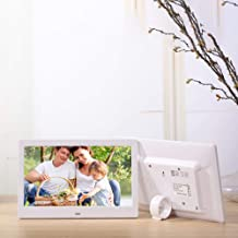 RONSHIN Video Converters-10.1 Inch Widescreen Digital Photo Frame HD Ultra-Thin LED Electronic Photo Album LCD Photo Frame White US Plug,Audio Video Accessories