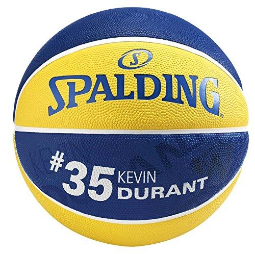 Spalding NBA Player Kevin Durant 83-570Z Balón de Baloncesto, Amarillo / Azul, 7