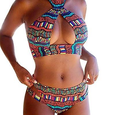 Sumen Women Brazilian Bikini 2 Pieces Swimsuit with Boyshort Cutout Bathing Suit for Women