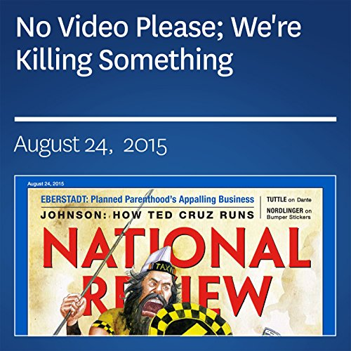 No Video Please; We're Killing Something audiobook cover art