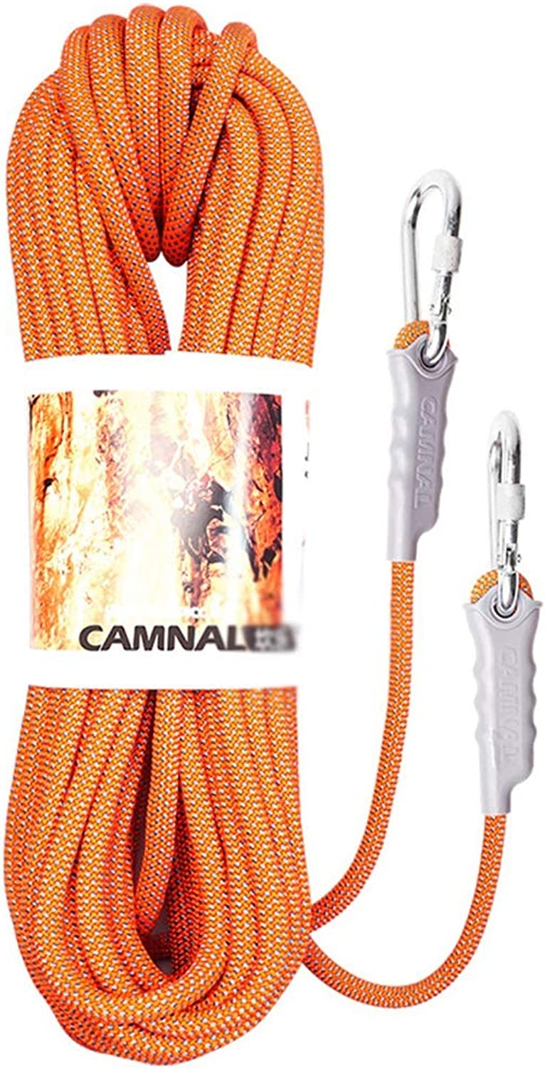 Climbing rope Nylon Climbing Rope, Diameter 812mm Outdoor Safety Rope, Household Clothesline Fire Escape Safety Rescue Rappelling Rope, orange