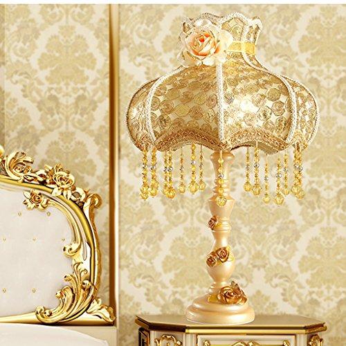 Bonne chose lampe de table Lampe de table Lampe à litière Lampe décoratif de luxe en bois résine ornée d'or