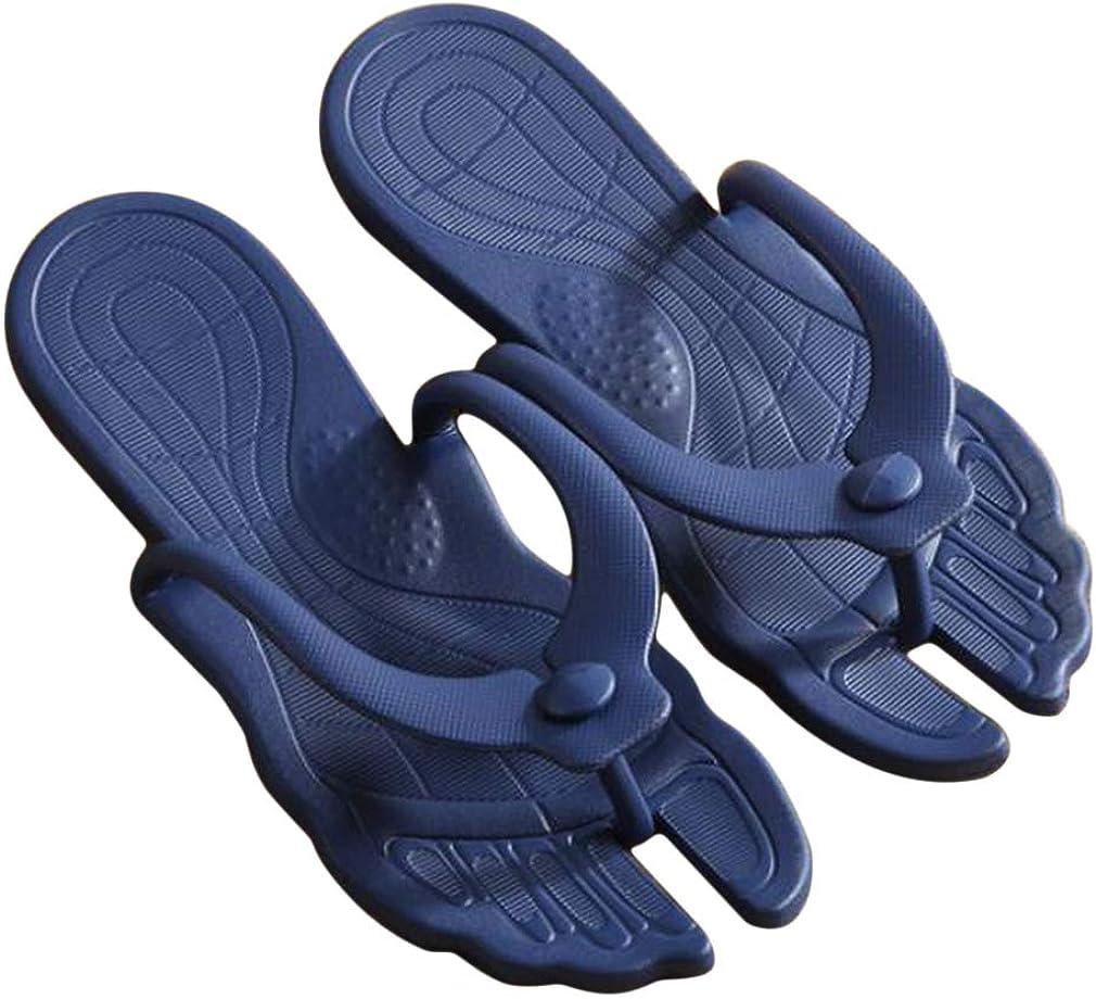 DONGMING Women Beach Summer Casual Flip Flop Travel Portable Flip-Flops Foldable Slipper