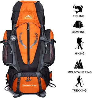 80 L + 5 L Internal Frame Backpack Outdoor Waterproof Backpack Climbing Fishing Rucksac Hiking Daypack Camping Outdoor Trekking Mountaineering Bag